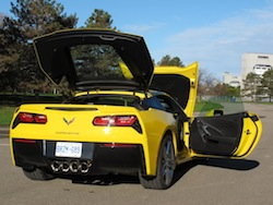 2014 Chevrolet Corvette C7 Stingray Yellow everything open