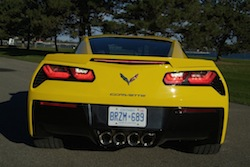 2014 Chevrolet Corvette C7 Stingray Yellow full rear view