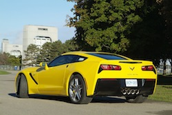 2014 Chevrolet Corvette C7 Stingray Yellow rear side