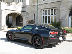 2014 Chevrolet Corvette C7 Stingray Black rear side view