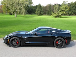 2014 Chevrolet Corvette C7 Stingray Black side