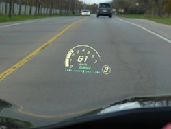 2014 Chevrolet Corvette C7 Stingray Yellow headsup display
