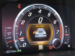 2014 Chevrolet Corvette C7 Stingray Yellow tachometer gauges