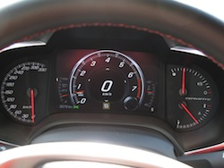 2014 Chevrolet Corvette C7 Stingray Yellow gauges instrument cluster