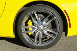 2014 Chevrolet Corvette C7 Stingray Yellow rims wheels calipers