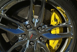 2014 Chevrolet Corvette C7 Stingray Yellow rims with yellow calipers