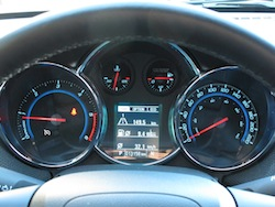2014 Chevrolet Cruze Diesel Black instrument cluster gauges