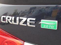 2014 Chevrolet Cruze Diesel Black badge rear