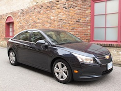2014 Chevrolet Cruze Diesel Black front side view