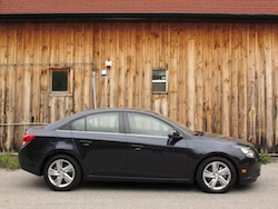 2014 Chevrolet Cruze Diesel Black side view