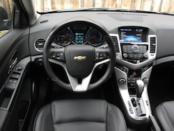 2014 Chevrolet Cruze Diesel Black interior dashboard steering wheel