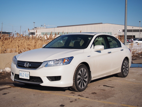 2014 Honda Accord Hybrid Touring White front side view