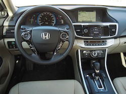 2014 Honda Accord Hybrid White interior