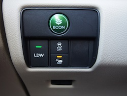 2014 Honda Accord Hybrid White green econ button