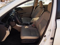 2014 Honda Accord Hybrid White front seats