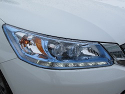 2014 Honda Accord Hybrid White front headlights