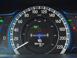 2014 Honda Accord Hybrid White gauges hybrid on
