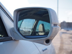 2014 Honda Accord Hybrid White side mirror camera