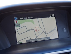 2014 Honda Accord Hybrid White navigation display