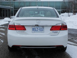 2014 Honda Accord Hybrid White rear