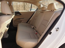 2014 Honda Accord Hybrid White rear seats