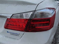 2014 Honda Accord Hybrid White rear taillights