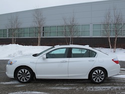 2014 Honda Accord Hybrid White side