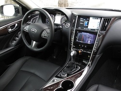 2014 Infiniti Q50 AWD Brown interior dashboard steering wheel