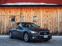 2014 Infiniti Q50 AWD Brown front view