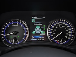 2014 Infiniti Q50 AWD Brown gauges instrument cluster tachometer speedometer