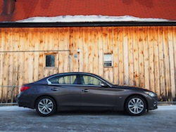 2014 Infiniti Q50 AWD Brown side view