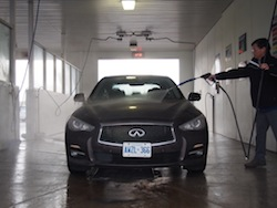 2014 Infiniti Q50 AWD Brown car wash