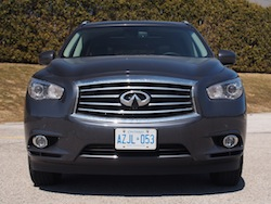 2014 Infiniti QX60 Hybrid full front view with grille