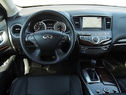 2014 Infiniti QX60 Hybrid steering wheel view