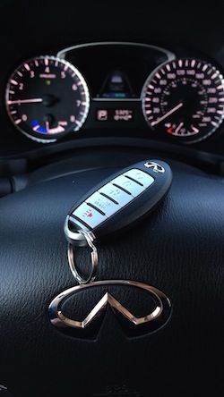 2014 Infiniti QX60 Hybrid car key