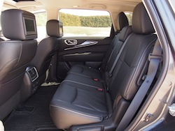2014 Infiniti QX60 Hybrid rear seats second row