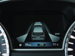 2014 Infiniti QX60 Hybrid safety technology display gauges