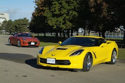 2014 Jaguar F-Type Convertible with Chevrolet corvette stingray