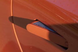 2014 Jaguar F-Type Convertible Orange door handle open