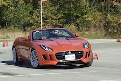 2014 Jaguar F-Type Convertible Orange drifting