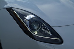 2014 Jaguar F-Type Convertible White front headlights