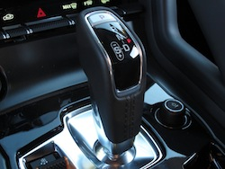 2014 Jaguar F-Type Convertible Orange gear shifter