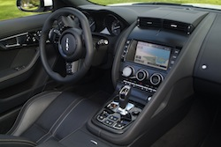 2014 Jaguar F-Type Convertible Orange interior dashboard