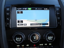 2014 Jaguar F-Type Convertible Orange navigation display