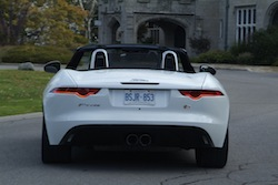 2014 Jaguar F-Type Convertible White rear