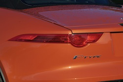 2014 Jaguar F-Type Convertible orange rear taillights