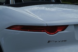 2014 Jaguar F-Type Convertible White rear taillights