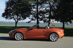 2014 Jaguar F-Type Convertible Orange side