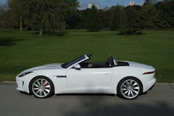 2014 Jaguar F-Type Convertible White side