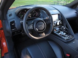 2014 Jaguar F-Type Convertible Orange interior dashboard steering wheel